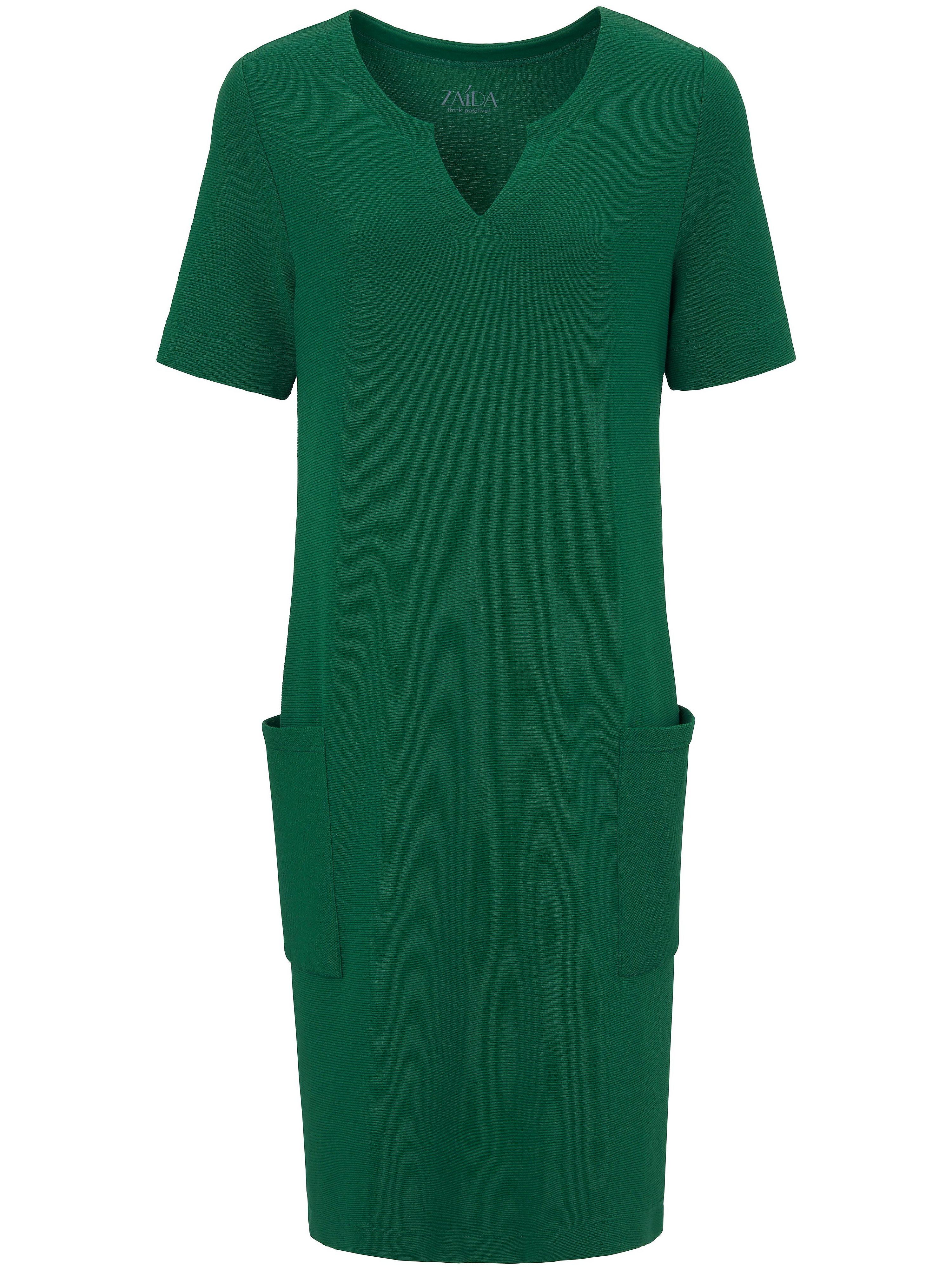 La robe manches courtes  ZAIDA vert taille 48