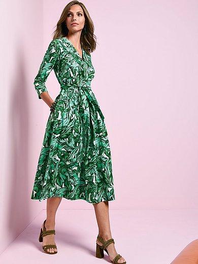 Windsor - Kjole med bladprint i 100% bomuld