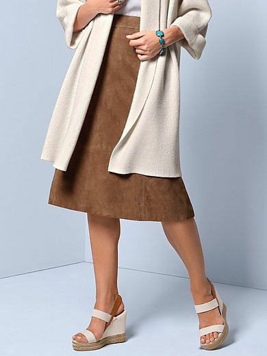 Fadenmeister Berlin - Leather skirt in slightly flared cut