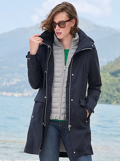 Fuchs & Schmitt - Lang rainwear-jakke med krave