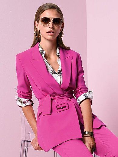Marella - Lange blazer met smalle revers