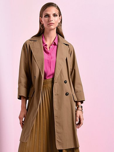 Marella - Coat with 3/4-length turn-up sleeves