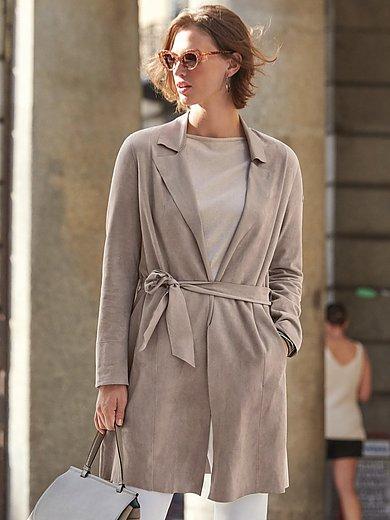 Milestone - Kort skindfrakke med bindebælte