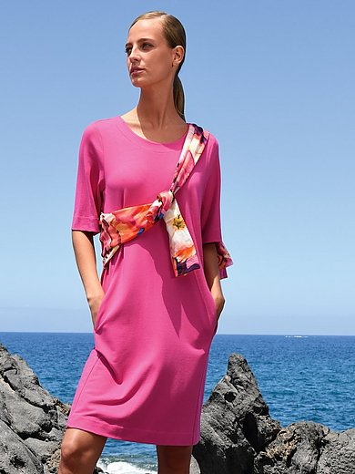 Margittes - Jersey dress with longer 1/2-length sleeves