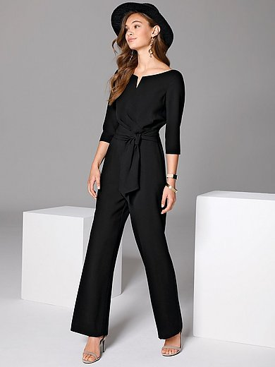 comma, - Jumpsuit with 3/4-length sleeves