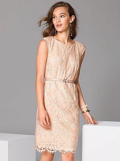 comma, - Kanten jurk met ondoorschijnende, dubbele voering