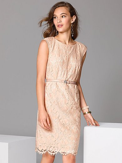 comma, - Lace dress with belt