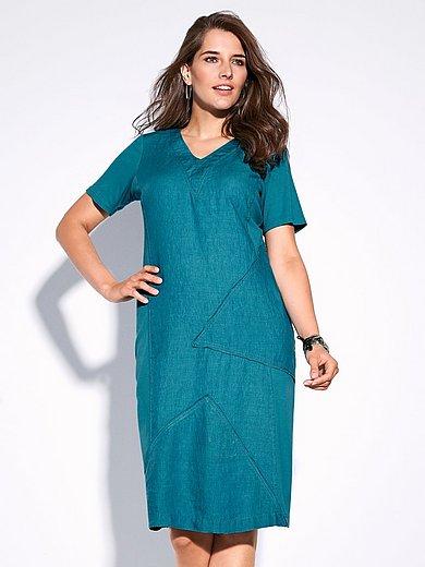 Doris Streich - Leinen-Kleid mit 1/2-Arm und V-Ausschnitt aus 100%