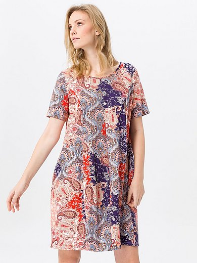 Green Cotton - Jersey dress in 100% cotton with paisley print