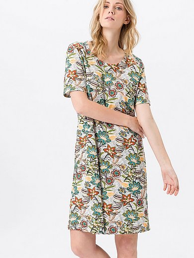 Green Cotton - Jersey dress in 100% cotton with floral print