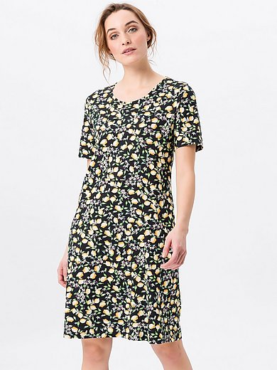 Green Cotton - Jersey dress in 100% cotton with short sleeves