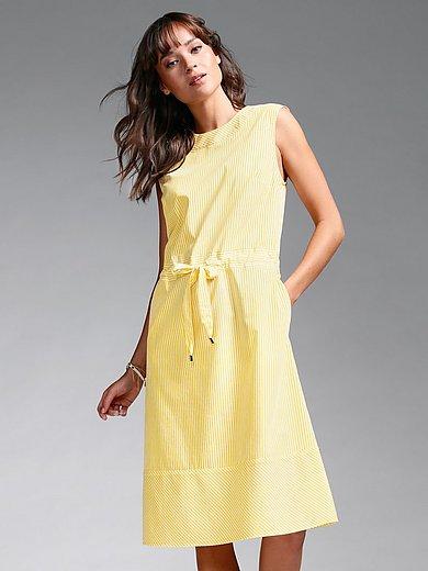 DAY.LIKE - Ærmeløs kjole med vævestriber i 100% bomuld