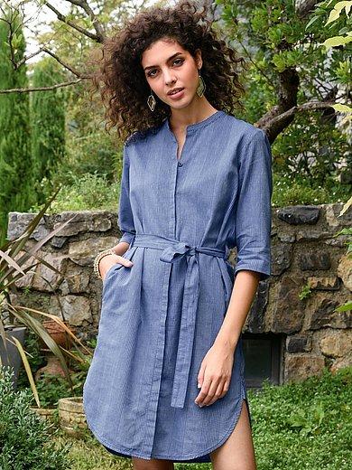 Lanius - Kaftan dress with 3/4-length turn-up sleeves