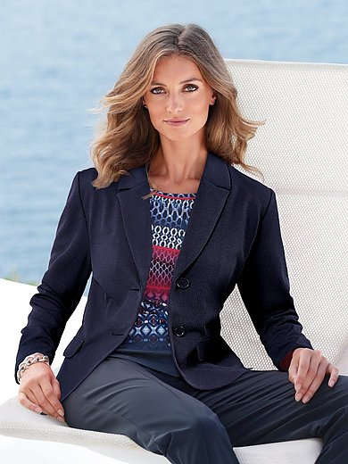 MYBC - Jersey blazer Trousers by Looxent in pull-on style