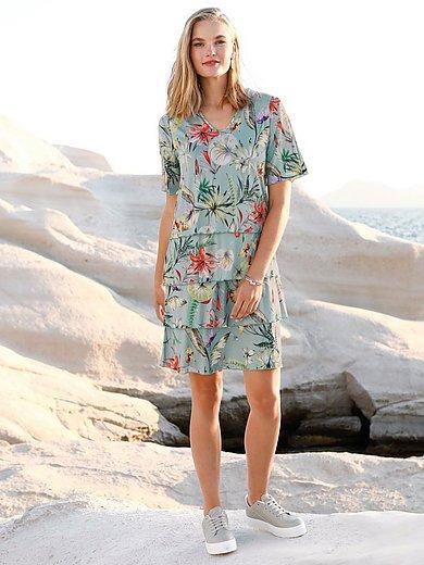 Peter Hahn - Jersey-Kleid mit V-Ausschnitt und 1/2-Arm