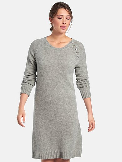include - Gebreide jurk van 100% kasjmier met raglanmouwen