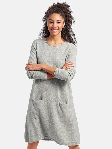include - Gebreide jurk van 100% kasjmier met lange mouwen