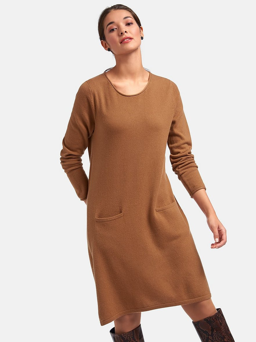 Include Strickkleid Camel Melange