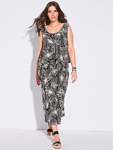 Via Appia Due - Sleeveless dress with floral print