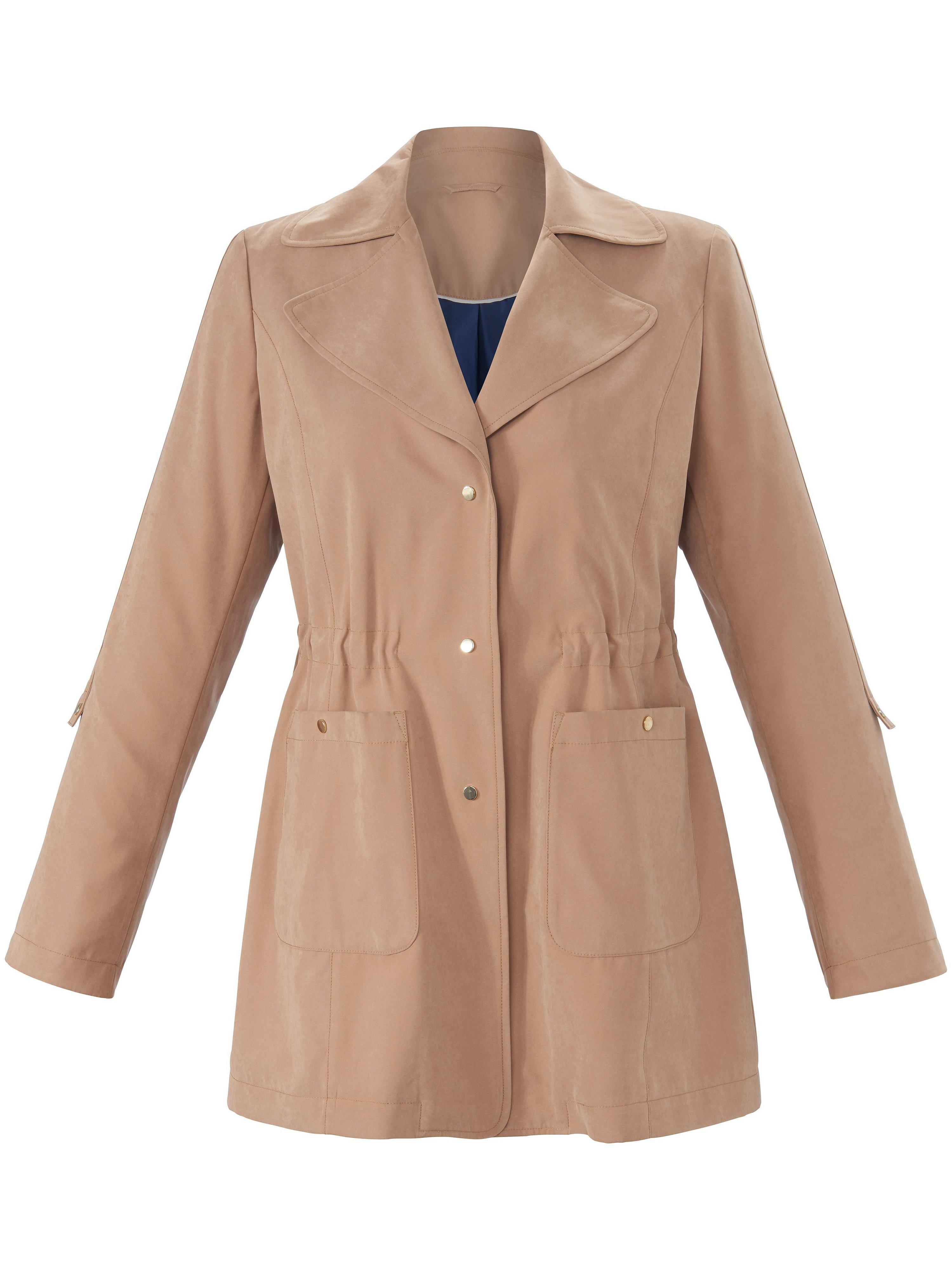 Outdoor jacket reversible collar Anna Aura beige