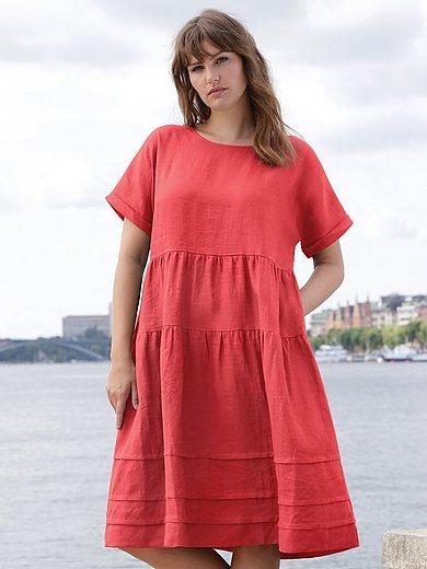 Emilia Lay - Kleid aus 100% Leinen - Koralle