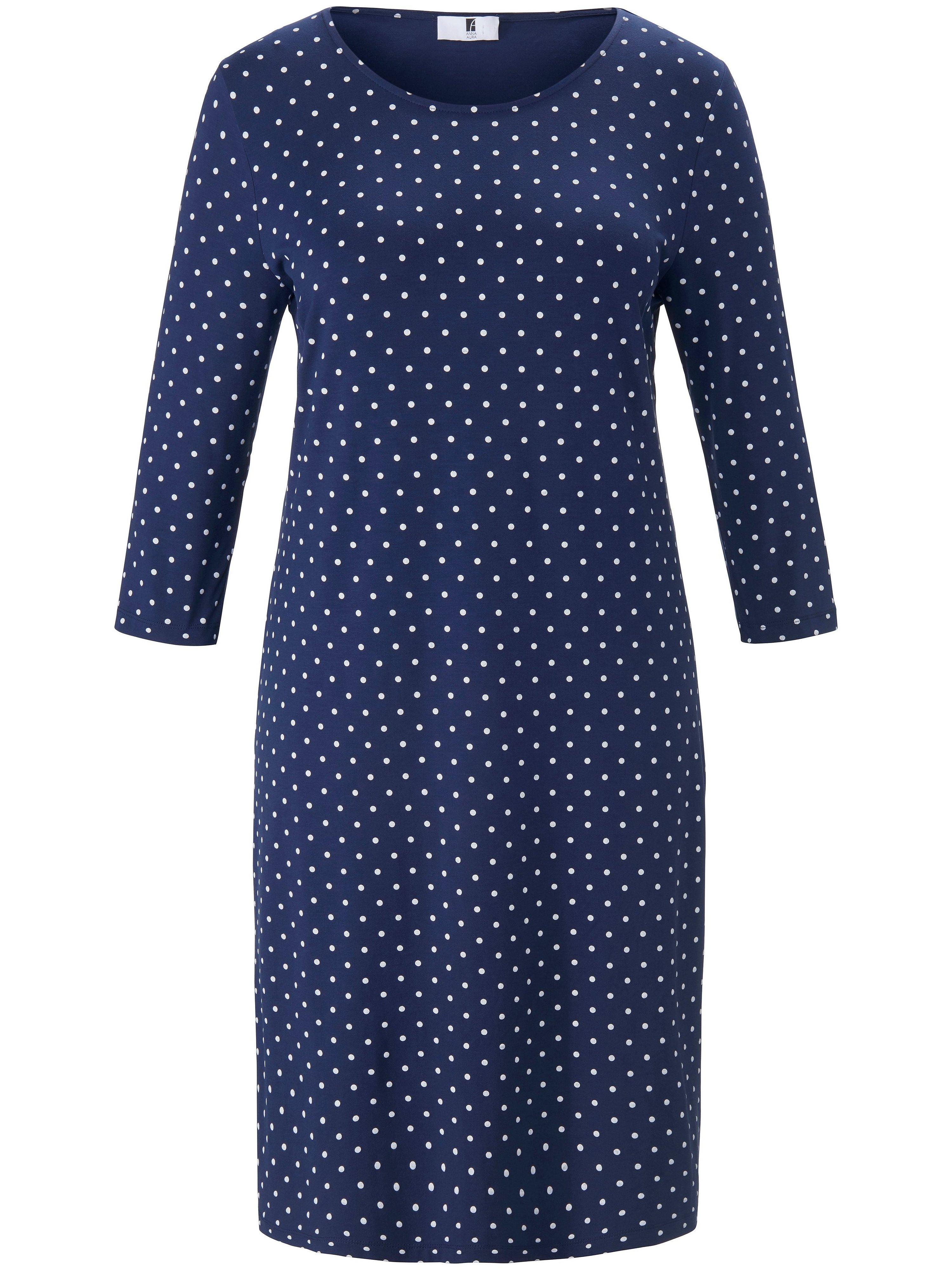 Jersey dress polka dot print Anna Aura blue
