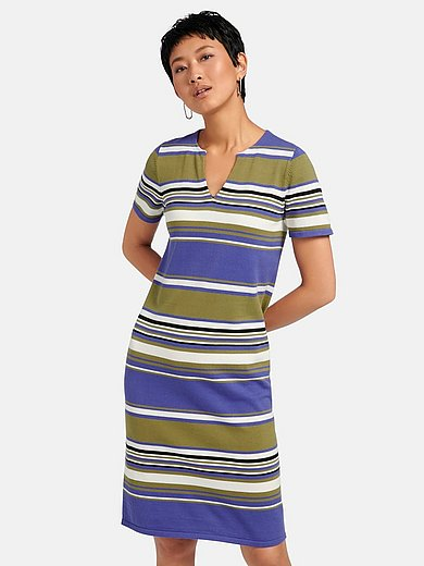 Peter Hahn - Short-sleeved dress in 100% cotton