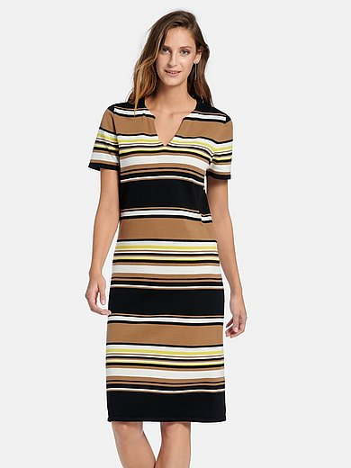 Peter Hahn - Gebreide jurk van 100% katoen met korte mouwen