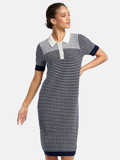 Peter Hahn - Knitted dress with polo collar