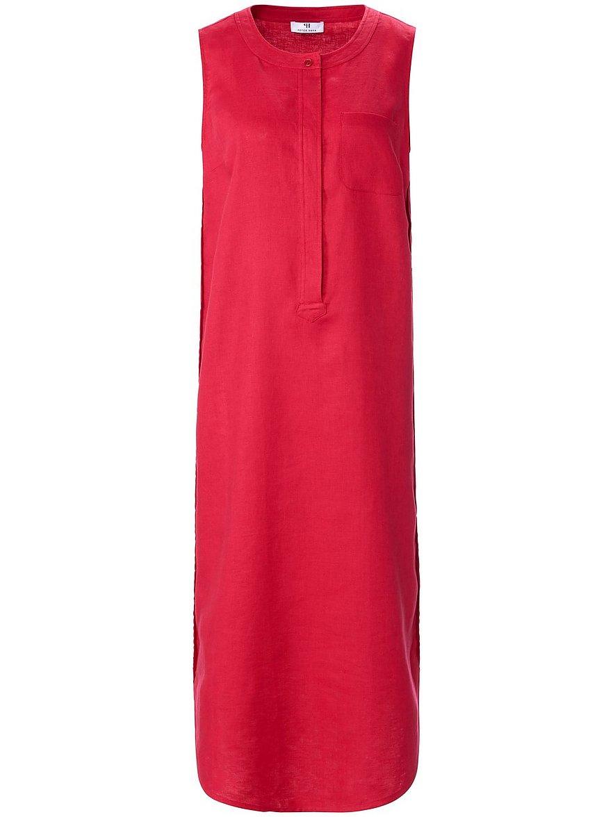 peter hahn - Ärmelloses Kleid aus 100% Leinen  pink Größe: 50