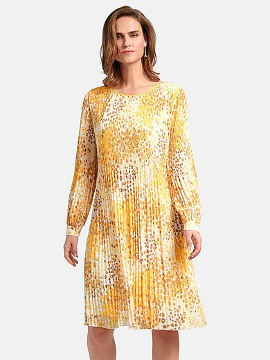 Basler - Pleated dress with long sleeves