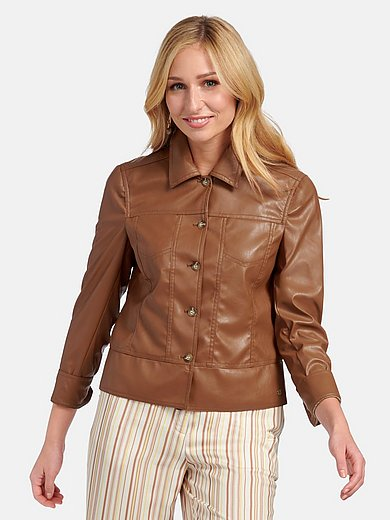 Basler - Faux leather jacket with button placket