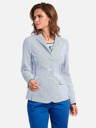 Basler - Striped blazer with revere collar