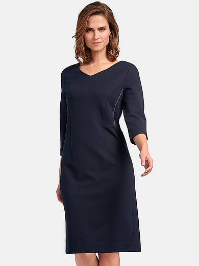 Basler - Dress with 3/4-length sleeves and V-neck