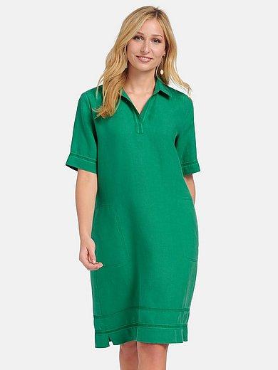 Basler - Short-sleeved dress in 100% linen