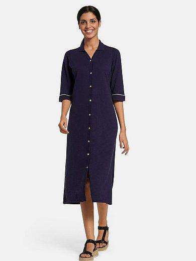 Peter Hahn - La robe en maille avec manches courtes