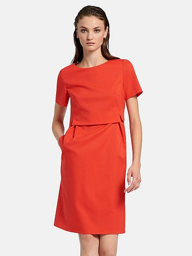 Fadenmeister Berlin - Short-sleeved dress with overlapping bodice