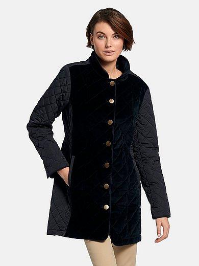 Peter Hahn - Lange jas met licht gewatteerd sandwichstiksel