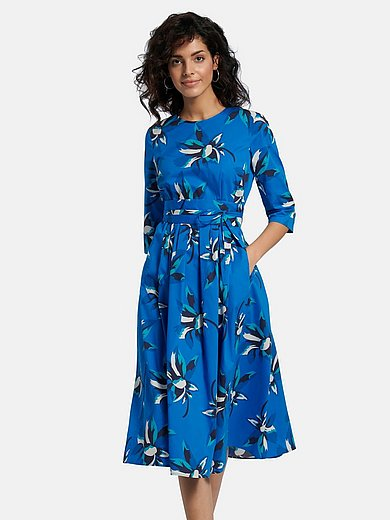 St. Emile - Dress with 3/4-length sleeves and floral print