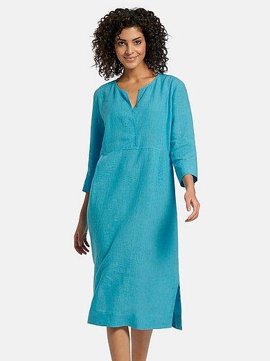 PETER HAHN PURE EDITION - Kleid mit 3/4-Arm aus 100% Leinen