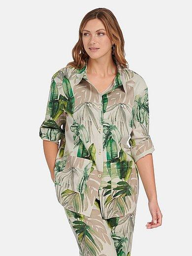 Emilia Lay - Blouse jacket with jungle print