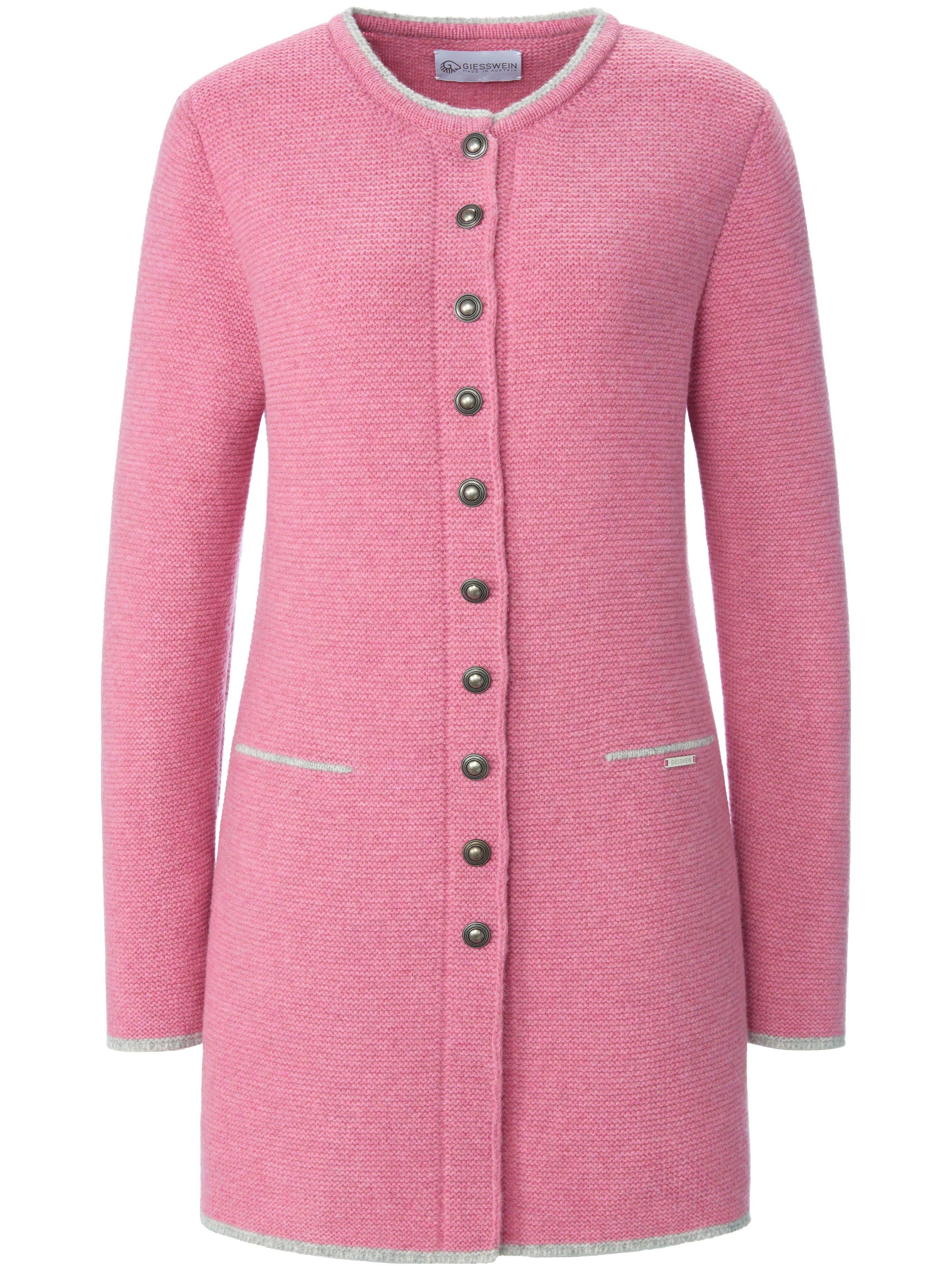 La redingote Lotte 100% laine vierge  Giesswein rose taille 50