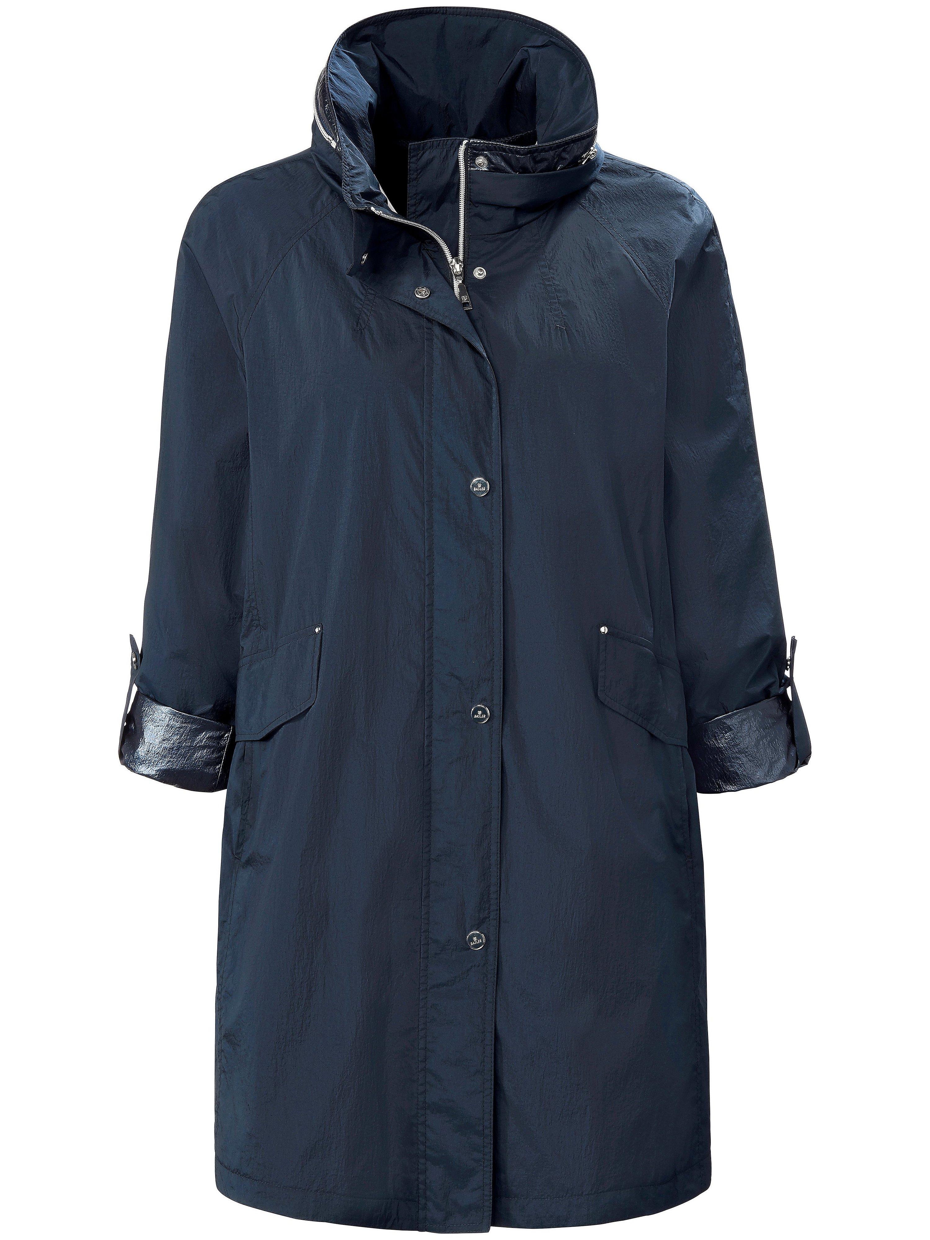 Le manteau 3/4 à capuche  Basler bleu taille 50