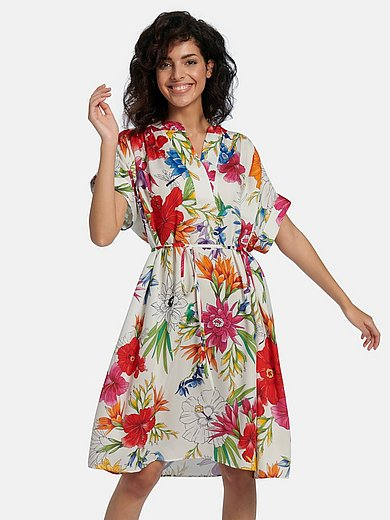GANT - Dress with drop shoulder and floral print