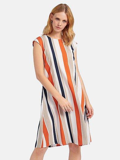 Peter Hahn - Mouwloze jurk met dynamisch streepdessin