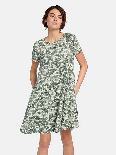 Green Cotton - Jerseyjurk van 100% katoen met animal-bladerprint
