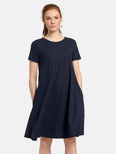 Green Cotton - Short-sleeved jersey dress in 100% cotton