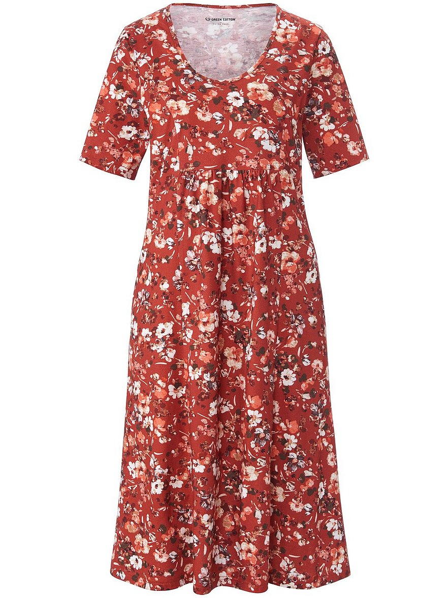 green cotton - Jersey-Kleid 1/2-Arm  rot Größe: 42