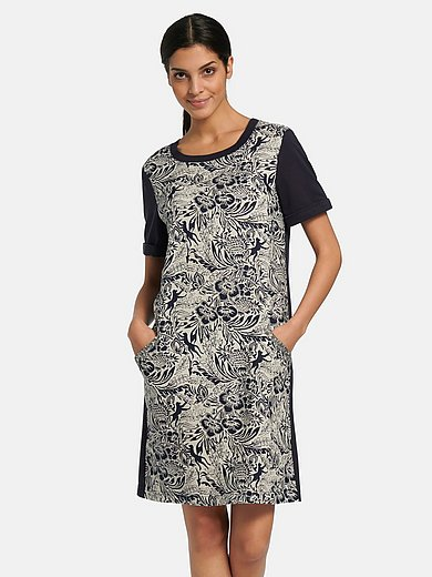 oui - Dress with floral impressions