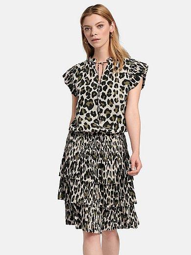 Steffen Schraut - La robe sans manches à imprimé léopard